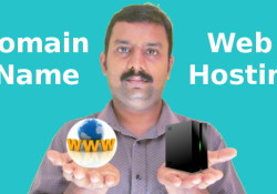 separate domain and web hosting